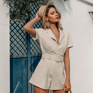 Lucky Lady Belted Romper