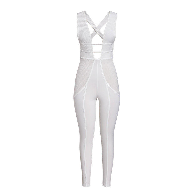 In The Mood Ribbed Jumpsuit