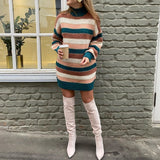 Rise And Shine High Neck Sweater Dress