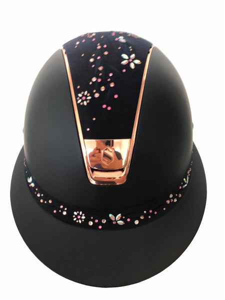 Samshield Miss Shield Shadowmatt Black mit Flower Jewelry Swarovski Roségold