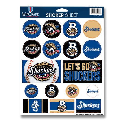 Biloxi Shuckers Sticker-Sheet