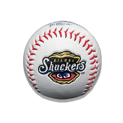 Biloxi Shuckers Baseball-White Logo