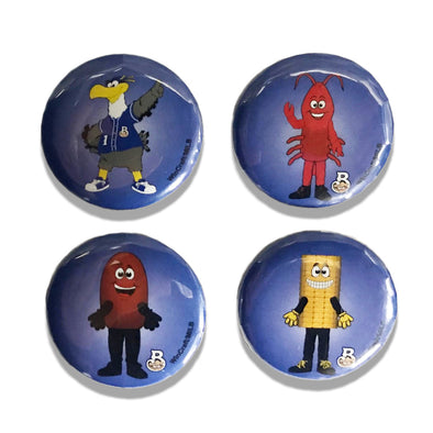 Biloxi Shuckers Button-4PK Mascots