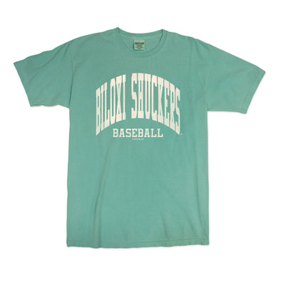 Biloxi Shuckers Tee-Comfort Color S/S in Mint