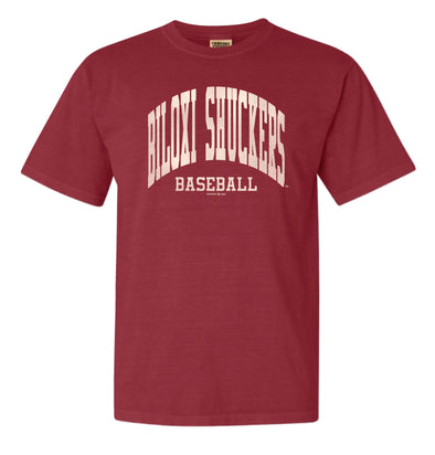 Biloxi Shuckers Tee-Comfort Color S/S in Chili
