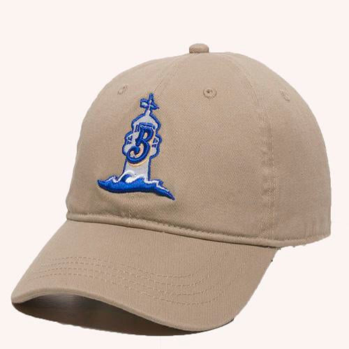 Biloxi Shuckers Hat-GWT 111 Khaki with Alt #2 Logo