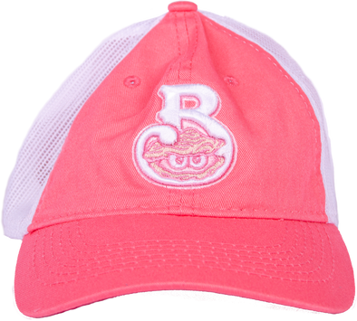Biloxi Shuckers Hat-FWT130 with Home Logo in Melon/White