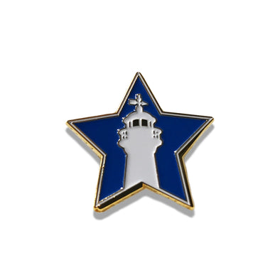 Biloxi Shuckers Lapel Pin-ASG Star with Lighthouse