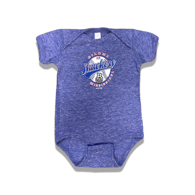 Biloxi Shuckers Infant Onesie Royal Melange