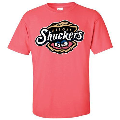 Biloxi Shuckers Tee-Youth Primary Coral