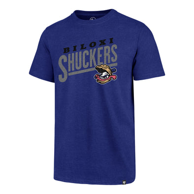 Biloxi Shuckers Tee- Sandlot Club in Royal