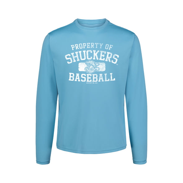Biloxi Shuckers Tee-Long Sleeve Sunproof in Cali Blue