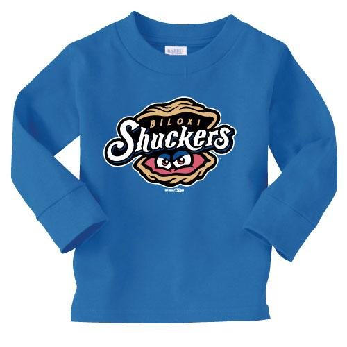 Biloxi Shuckers Tee-Toddler Long Sleeve Primary Royal