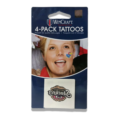Biloxi Shuckers Tattoos- 4-Pack Primary Logo