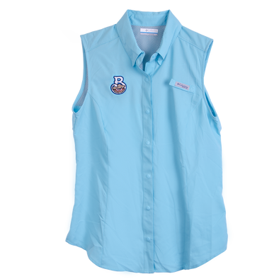 Biloxi Shuckers Tamiami-Women's Sleeveless in Cali Blue