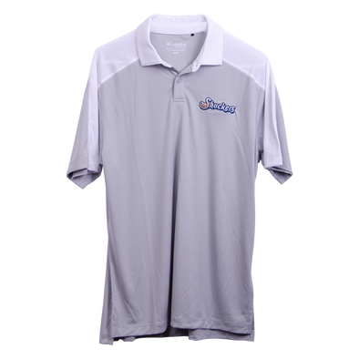 Biloxi Shuckers Polo-Omni Wick Bracket with Wordmark Logo