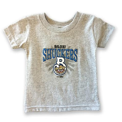 Biloxi Shuckers Tee-Infant Sunburst Gray