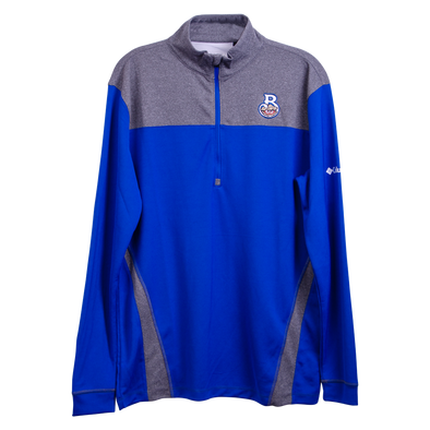Biloxi Shuckers Jacket-Standard 1/4 Zip in Royal with Home Logo