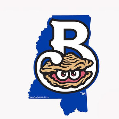 Biloxi Shuckers Decal-Mississippi with Home Logo