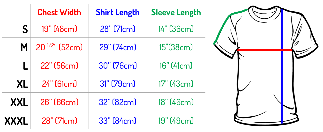 size chart of shirts: Shirts size chart eagle van heusen and izod shirt size chart