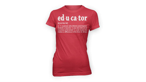 EDUCATOR TEE (RED)