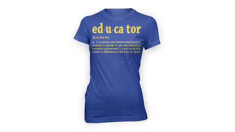 EDUCATOR TEE (BLUE/GOLD)