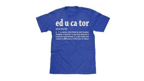 EDUCATOR TEE (Unisex) BLUE