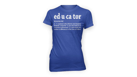EDUCATOR TEE (BLUE/WHITE)