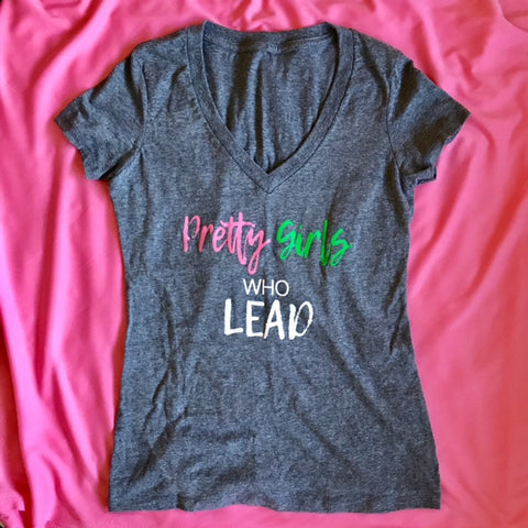 """Pretty Girls Who Lead"" tee"