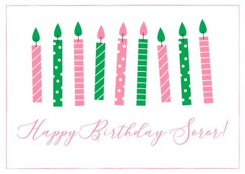 Happy Birthday Soror Gift Card!