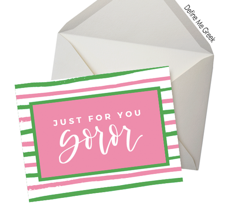 Just for You Soror Note Cards AKA