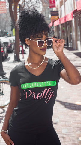 Unapologetically Pretty®️ Tee - Vneck