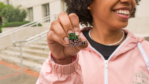 """THE FIRST BLACK SORORITY"" Lapel Pin"