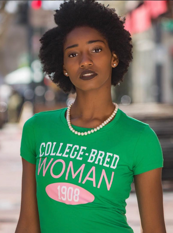 College-Bred Woman 1908 tee