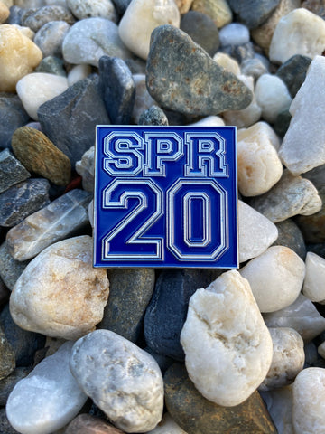 Spring 20 lapel pin -Blue