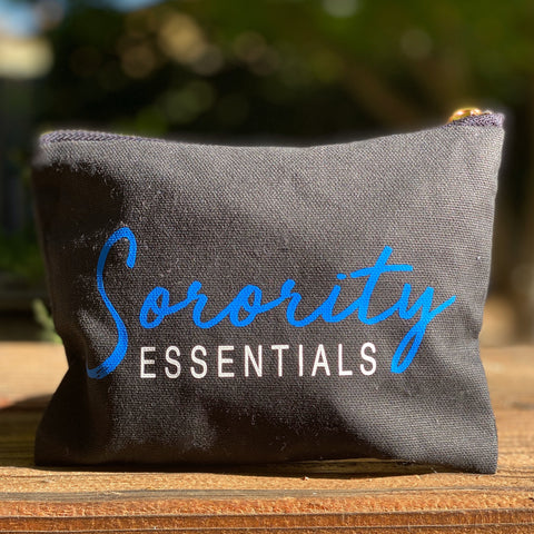 "Mini ""Sorority Essentials"" bag - blue and white"
