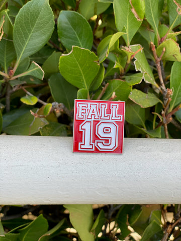 Fall 19 Lapel Pin - red and white