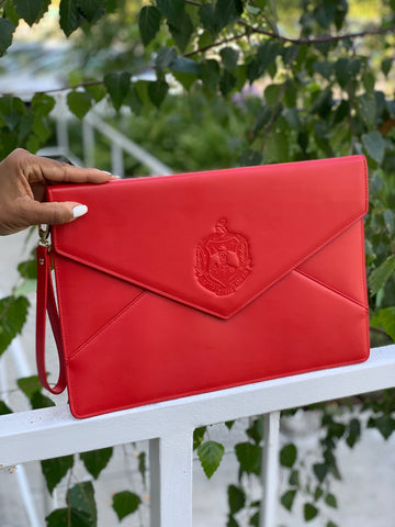 Delta Sigma Theta Large Envelope Clutch - Red