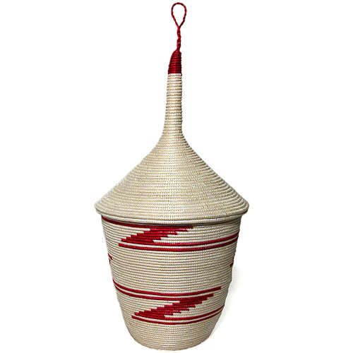 Traditional Sisal Basket from Rwanda