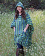 Load image into Gallery viewer, Striped Poncho with Hood
