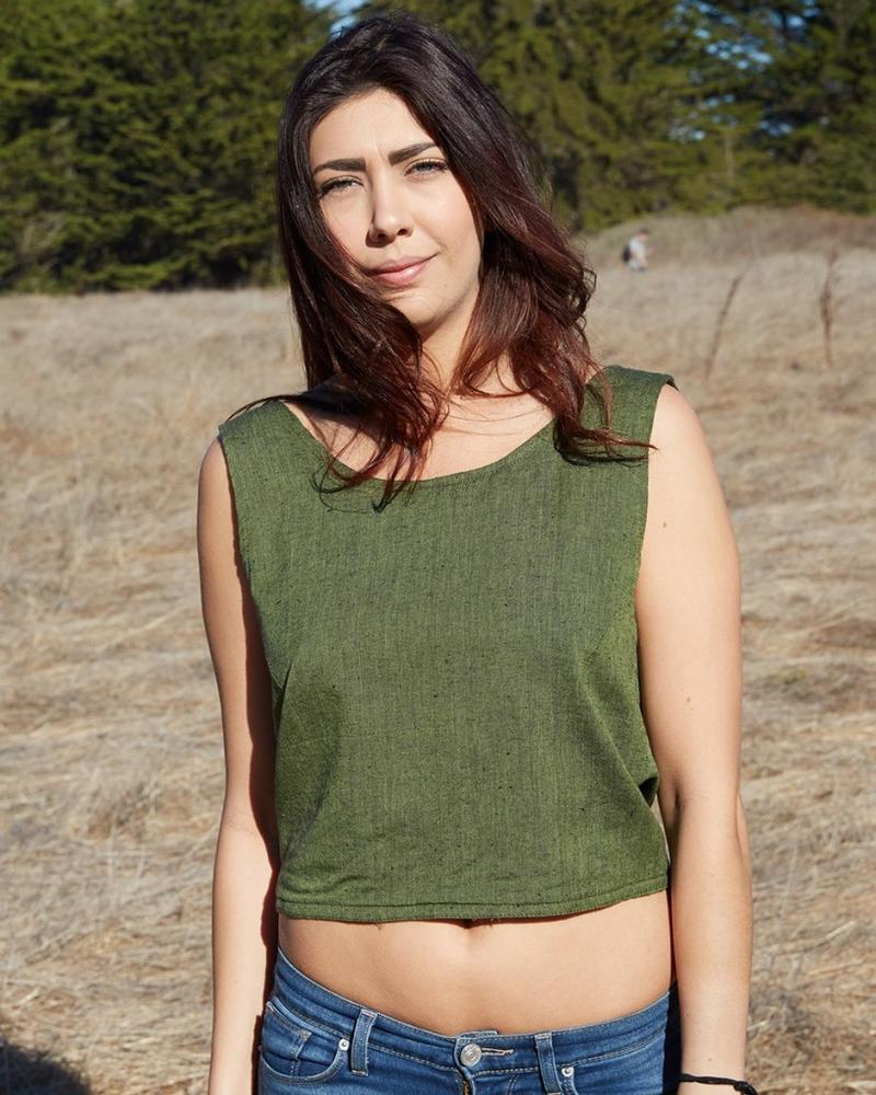 Back Tie Tank Top - Olive