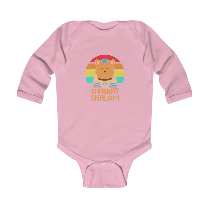Shabbat Shalom Infant Long Sleeve Bodysuit
