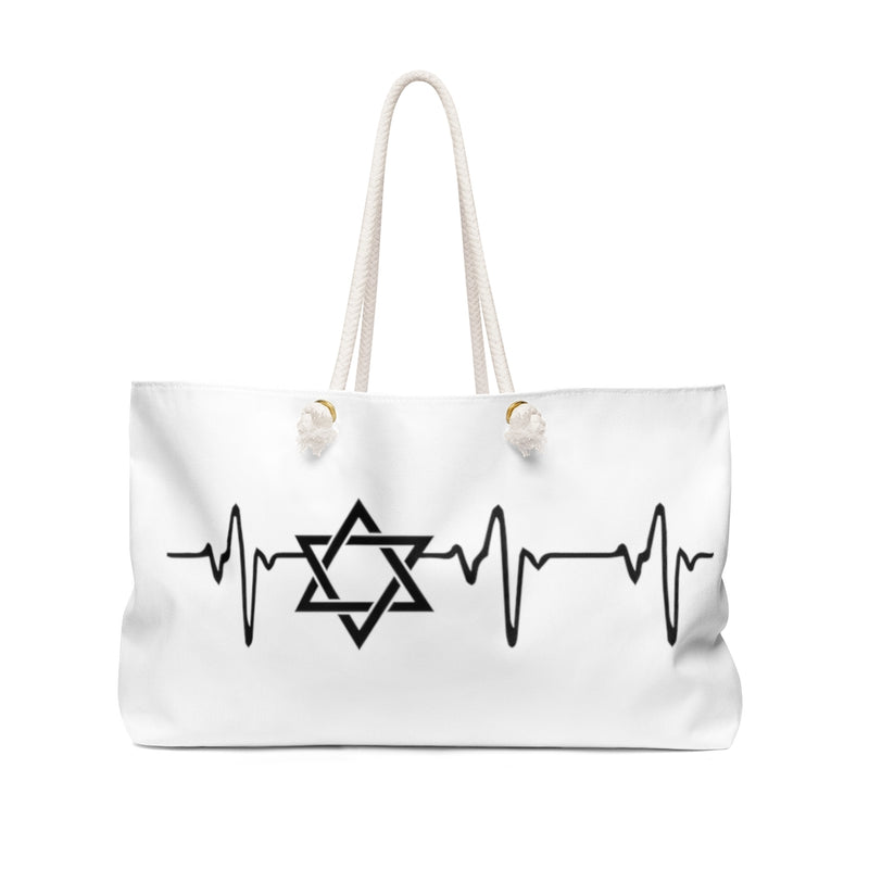 Jewish Heart Beat Weekender Bag