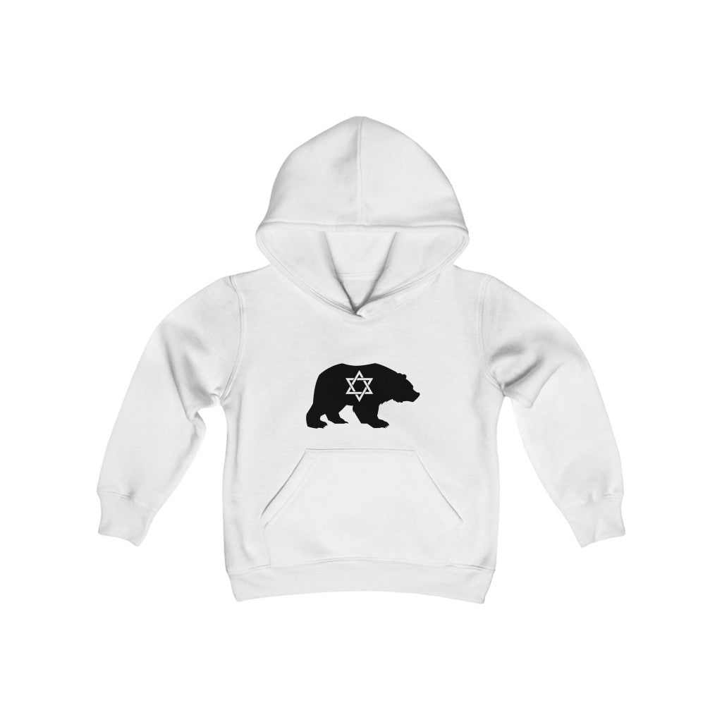 Star of David Bear Youth Heavy Blend Hooded Sweatshirt