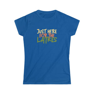 Just Here For The Latkes Women's Softstyle Tee