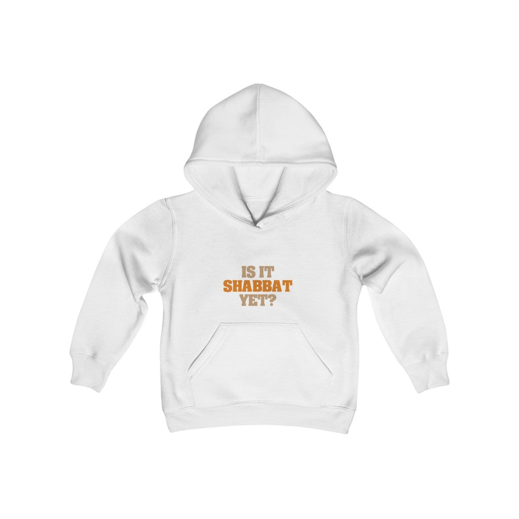 Is It Shabbat Yet Youth Heavy Blend Hooded Sweatshirt