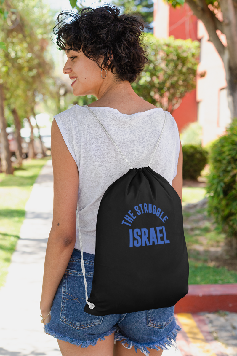 The Struggle Israel Cotton Drawstring Bag
