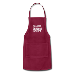 Shabbat Shalom Bitches Adjustable Apron - JewNana