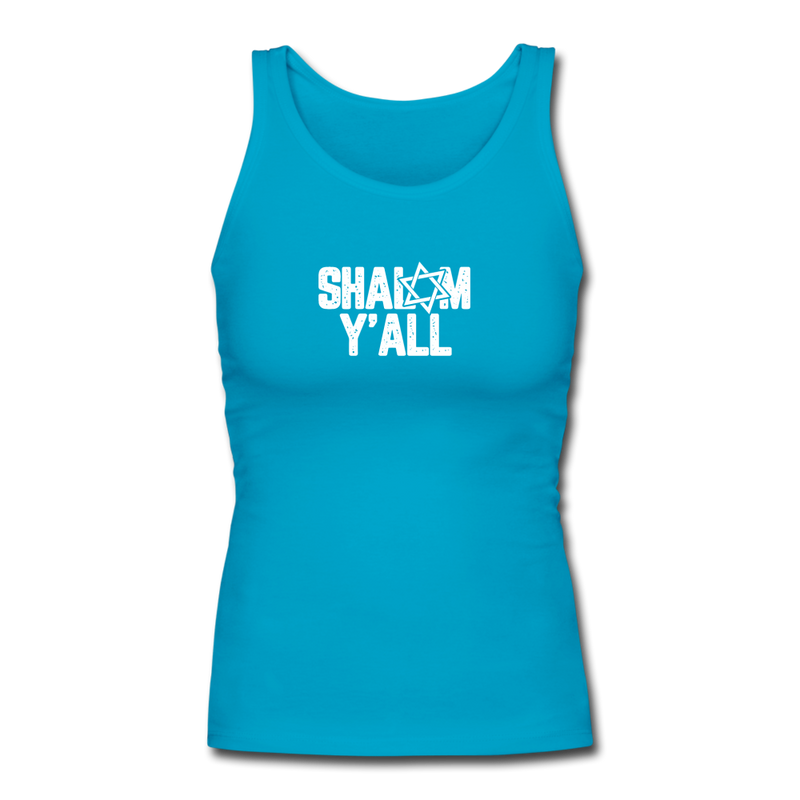 Shalom Y'all Women's Longer Length Fitted Tank - JewNana
