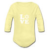 Love Organic Long Sleeve Baby Bodysuit - JewNana